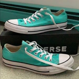 Gently worn teal converse size 7.5 womens
